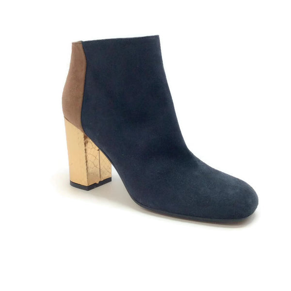 Suede Bootie with Gold Heel by Marni