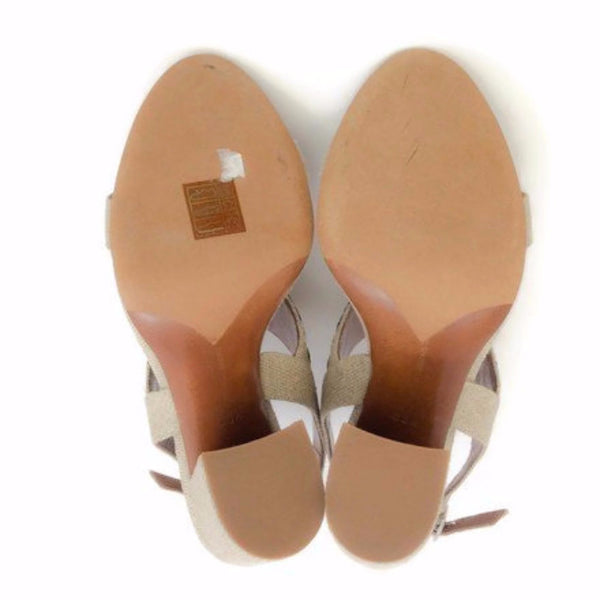 Senna Meadow Linen / Multi Sandals by Tabitha Simmons 38.5