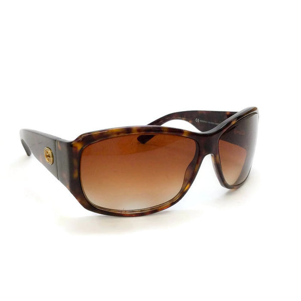 Brown Tortoise Shell GG Sunglasses-2592/S by Gucci front angle