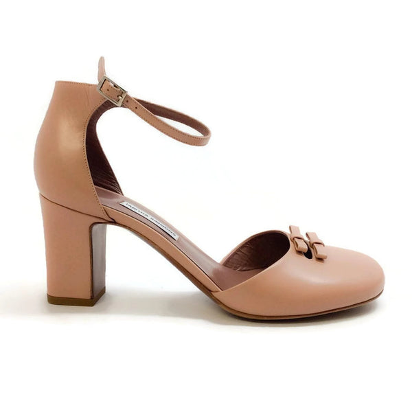 Bow Front D'orsay Pump Nude by Tabitha Simmons outside