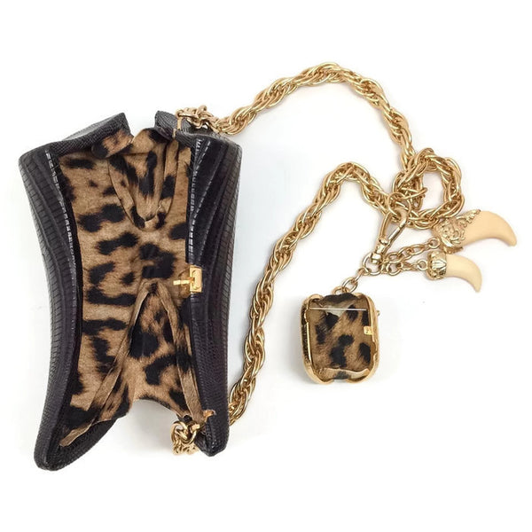 Lizard Horn Minaudiere With Charms Shoulder Bag by Roberto Cavalli interior