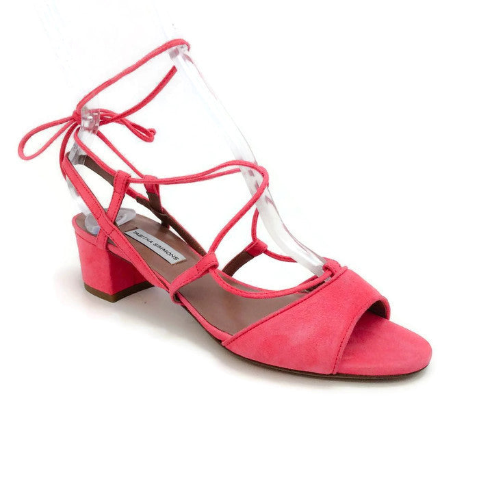 Lori Raspberry Lace Up Sandal by Tabitha Simmons