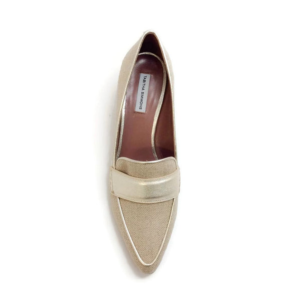 Margot Linen / Champagne Pumps by Tabitha Simmons top