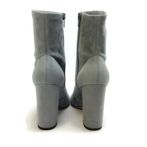 Suede Stretch Gray Bootie by Valentino back