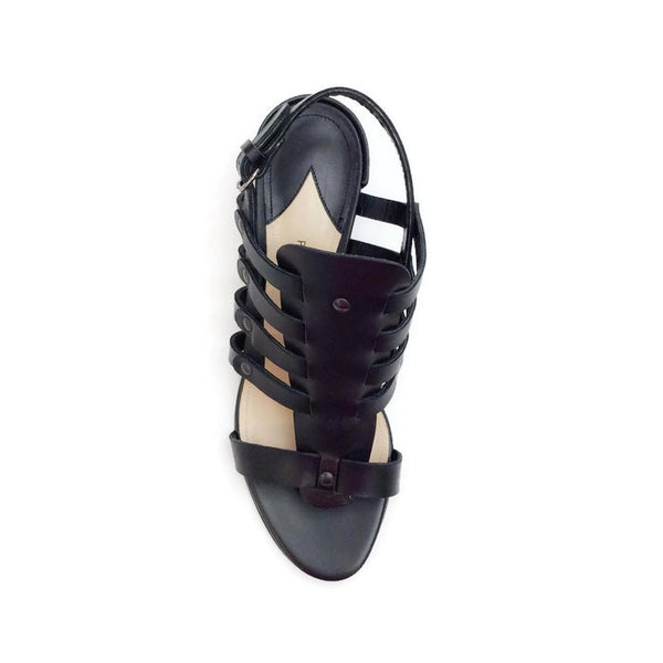 Addison Birdcage Black Sandals by Paul Andrew top