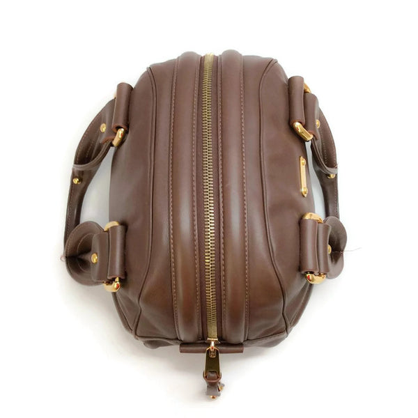 Bowling Bag Brown by Marc Jacobs top
