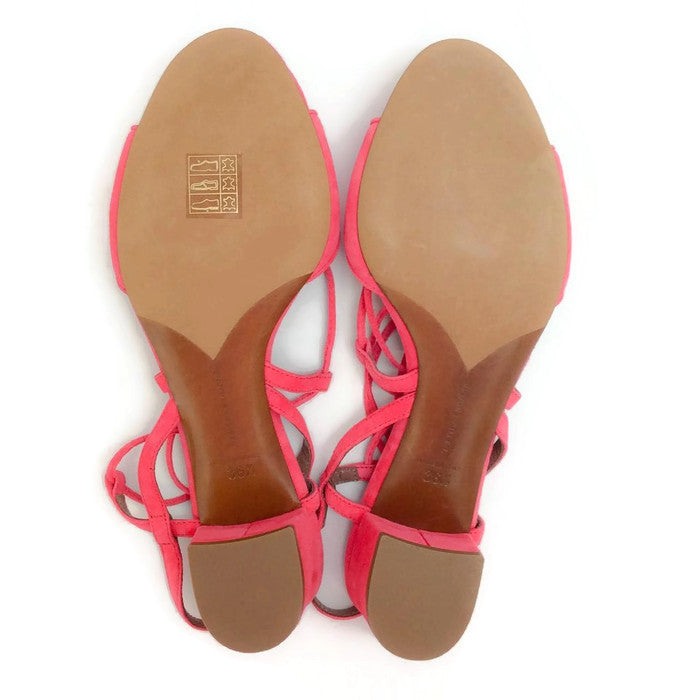 Lori Raspberry Lace Up Sandal by Tabitha Simmons 36.5
