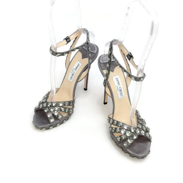 Jigsaw Silver Sandals by Jimmy Choo pair