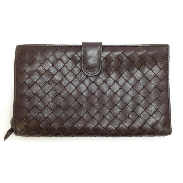 Intrecciato Lambskin Continental Wallet by Bottega Veneta