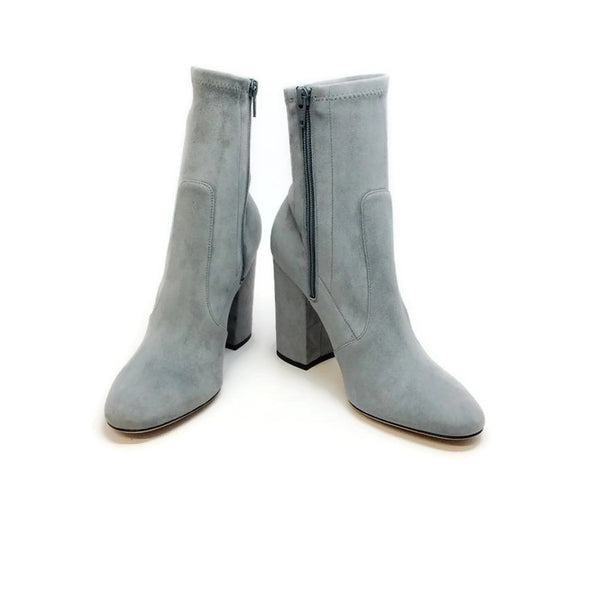 Suede Stretch Gray Bootie by Valentino pair