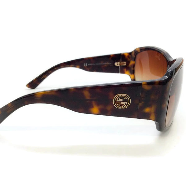 Brown Tortoise Shell GG Sunglasses-2592/S by Gucci side logo