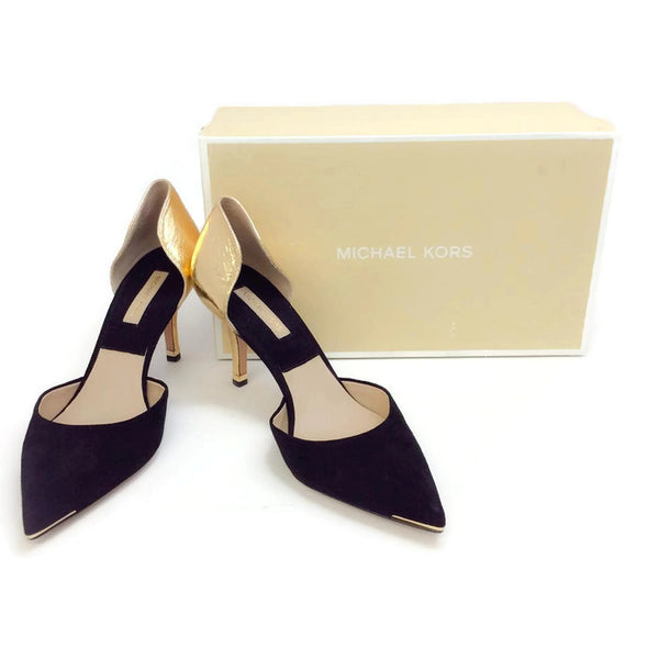 Scarlett Black / Gold Pumps by Michael Kors with box