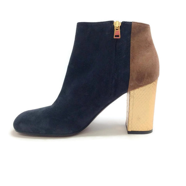 Suede Bootie with Gold Heel by Marni inside