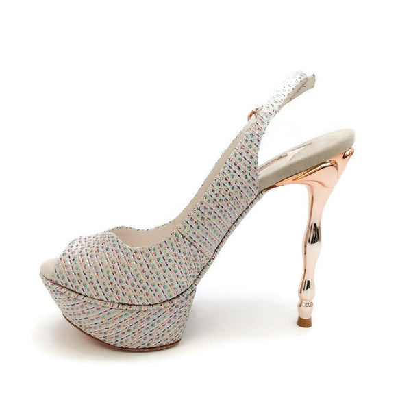 Peron Metallic Jacquard Platforms by Sophia Webster inside