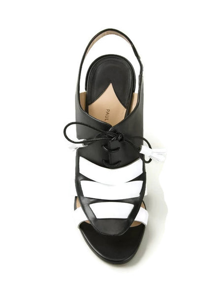 Dimitros Black / White Pumps by Paul Andrew top