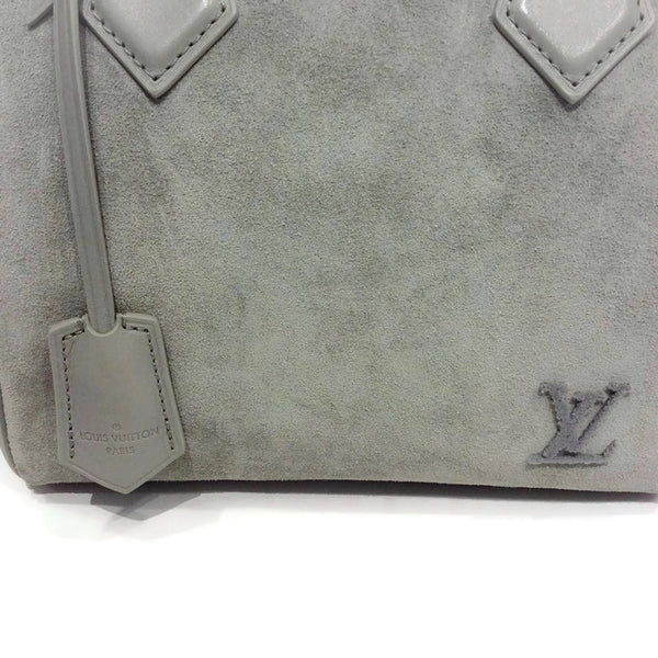 Limited Edition Grey Suede Illusion Speedy PM Satchel by Louis Vuitton key