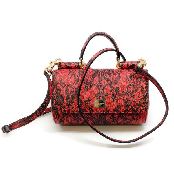 Miss Sicily Micro Dauphine Shoulder Bag by Dolce & Gabbana with strap