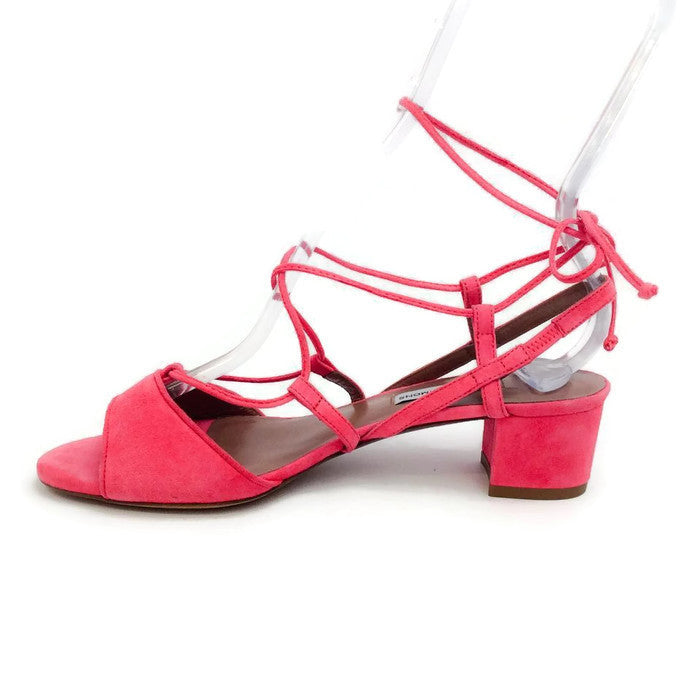 Lori Raspberry Lace Up Sandal by Tabitha Simmons inside