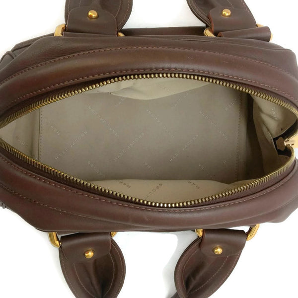 Bowling Bag Brown by Marc Jacobs interior