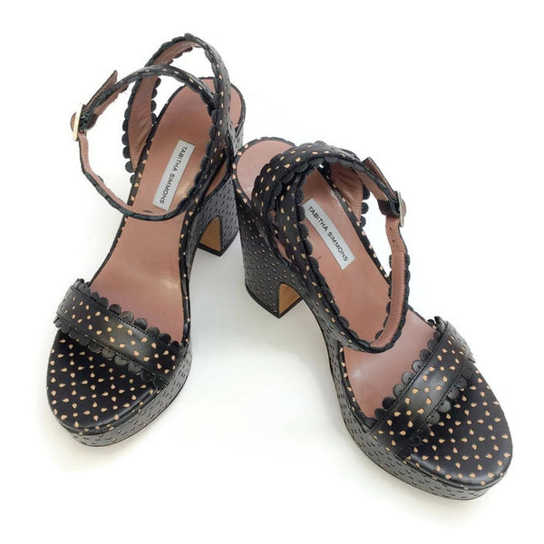 Harlow Black Sandals by Tabitha Simmons pair