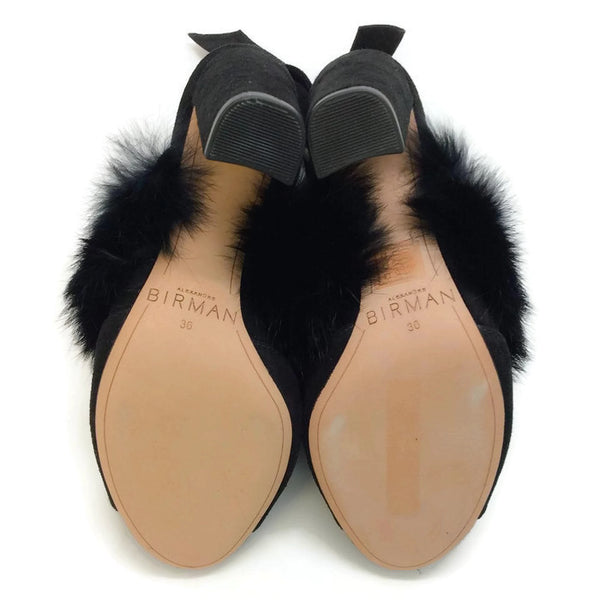 Neena Black Mules by Alexandre Birman 36