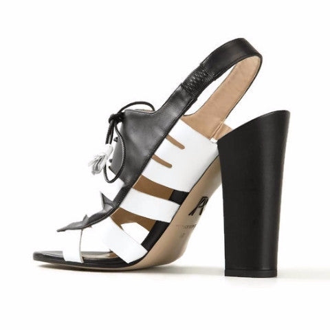 Dimitros Black / White Pumps by Paul Andrew rear