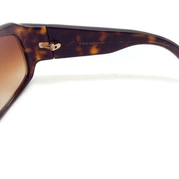 Brown Tortoise Shell GG Sunglasses-2592/S by Gucci right inside