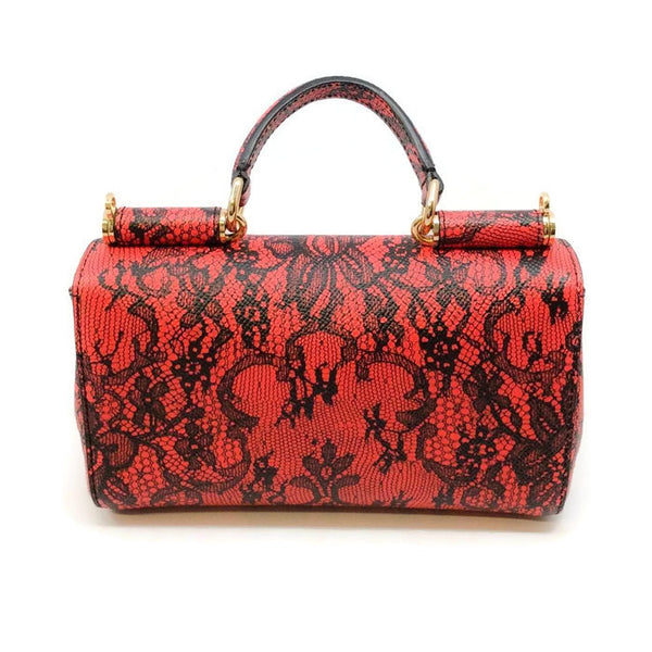 Miss Sicily Micro Dauphine Shoulder Bag by Dolce & Gabbana back