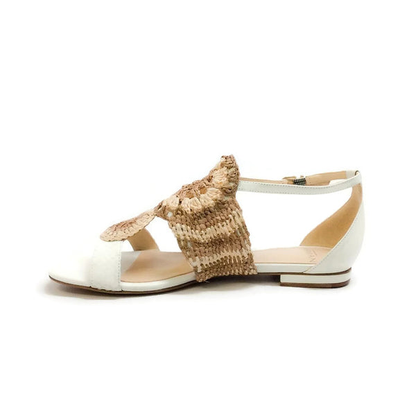 Jin Tropic White Sandals by Alexandre Birman inside