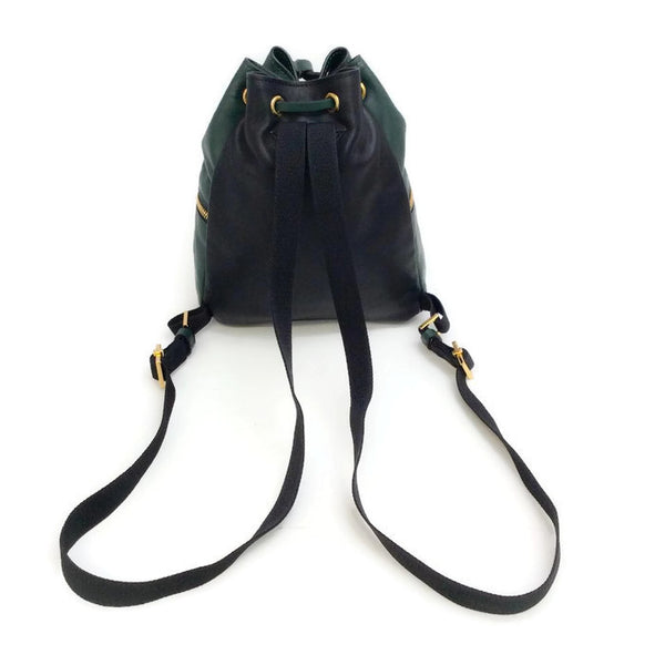 Mini Leather Bucket Backpack by Marni back