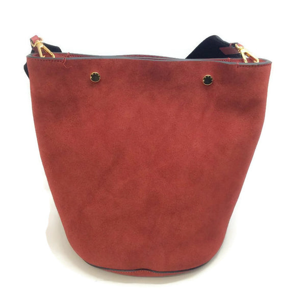 Bucket Tote Port Red by Marni back