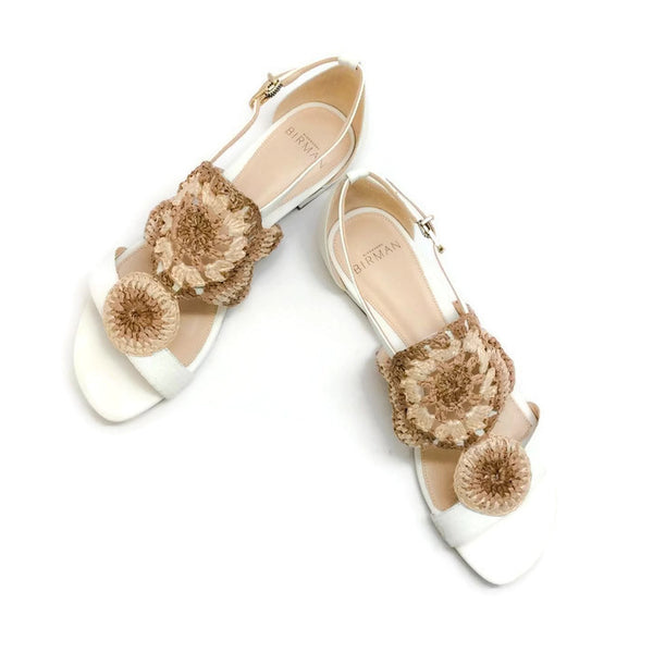 Jin Tropic White Sandals by Alexandre Birman pair