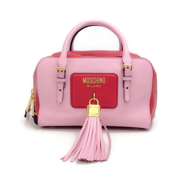 Pink Tassel Satchel by Moschino