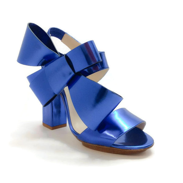 Metallic Bow Sandal by Delpozo