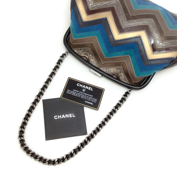 Patchwork Zig Zag Shoulder Bag by Chanel authenticity