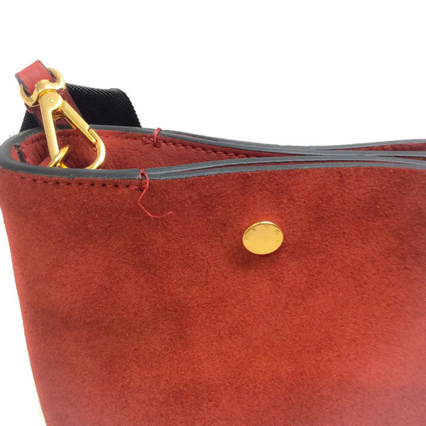 Bucket Tote Port Red by Marni stitch unravelling