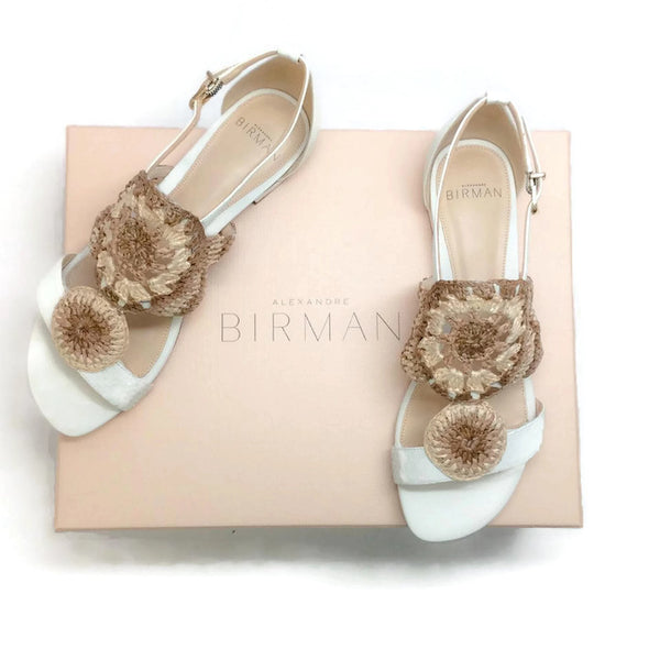 Jin Tropic White Sandals by Alexandre Birman with box