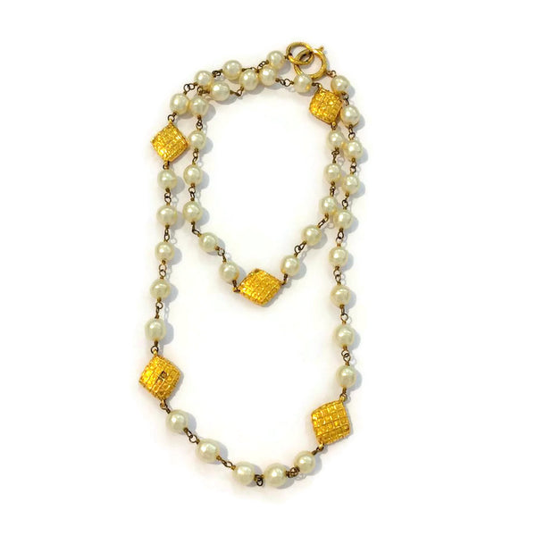 Vintage Pearl Necklace by Chanel doubled