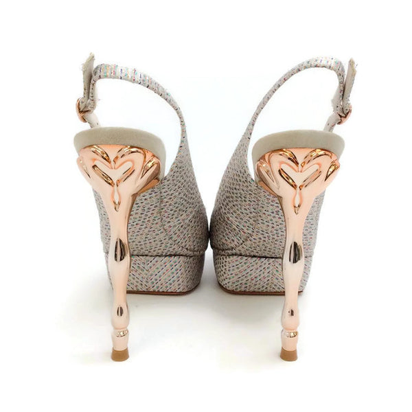 Peron Metallic Jacquard Platforms by Sophia Webster back