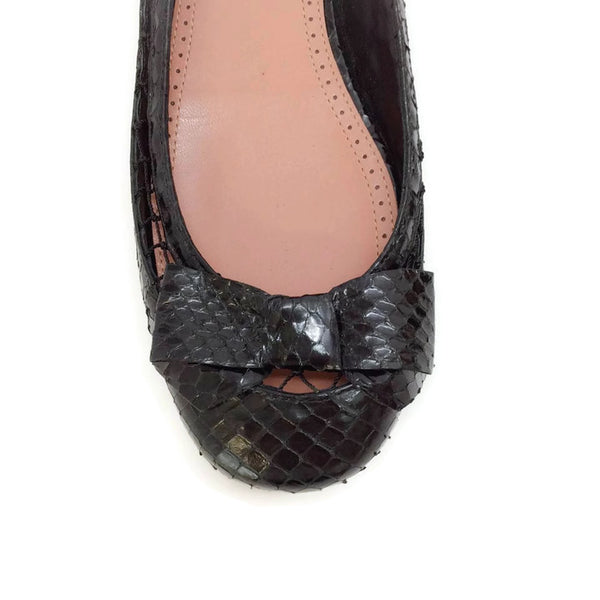 Black Snake With Bow Flats by Alaïa toe
