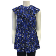 Derek Lam Blue Multi Top