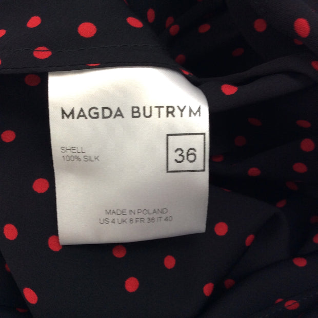 Magda Butrym Black / Red Diablo Dress