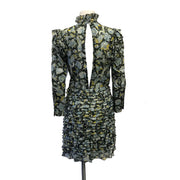 Robert Rodriguez Green Multi Floral Short Casual Dress