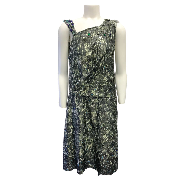 KOCHÉ Green Multi Beaded Formal Dress