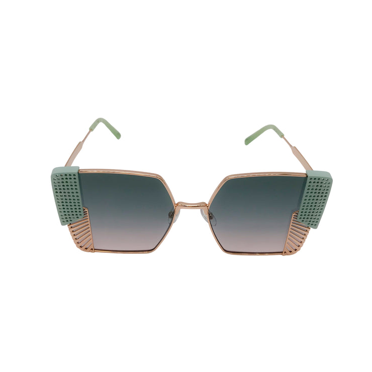 Oxydo Rose Gold/Aqua Retro Sunglasses