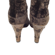 Bottega Veneta Brown Velvet Embroidered Boots