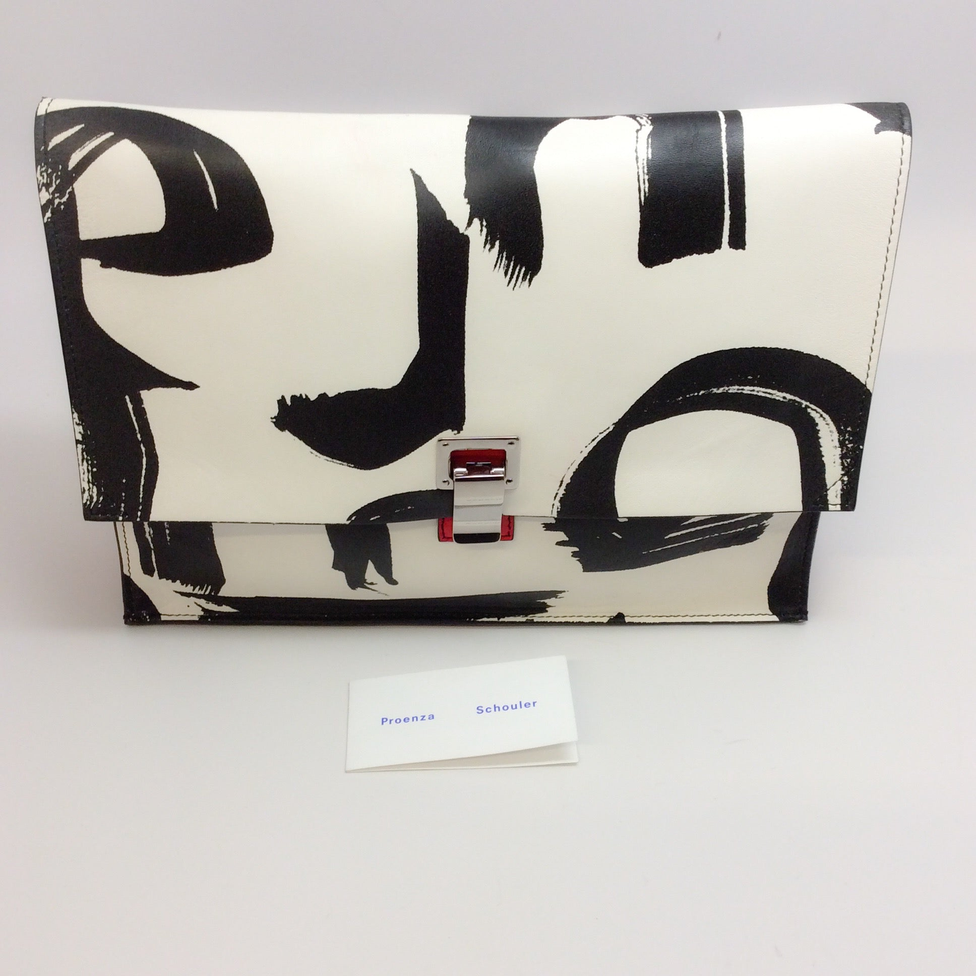 Proenza Schouler Large Lunch Printed Leather Clutch