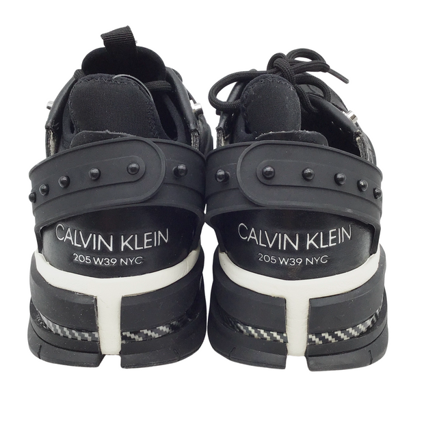 Calvin Klein 205W39NYC Black and White Leather Carla Sneakers
