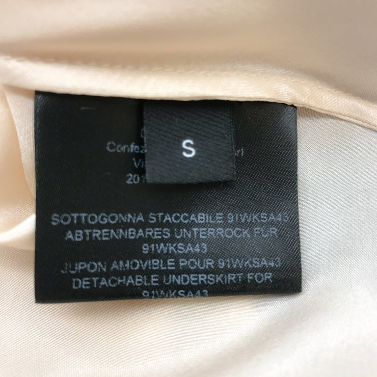 Calvin Klein Blue/Brown Silk Skirt