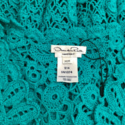 Oscar de la Renta Turquoise Knit Sleeveless Dress